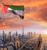 Cityscape av Dubai med modern futuristisk arkitektur, Förenade Arabemiraten Arkivbilder