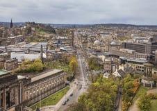 Cityscape av Edinburg, Skottland Arkivbild