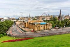 Cityscape av Edinburgh, Skottland Royaltyfri Foto