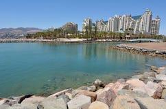 Cityscape av Eilat, Israel Royaltyfri Foto