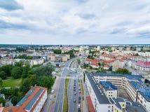 Cityscape av Elblag, Polen Royaltyfri Foto