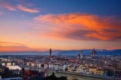 Cityscape av Florence Royaltyfri Fotografi