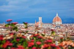 Cityscape av Florence Royaltyfri Foto