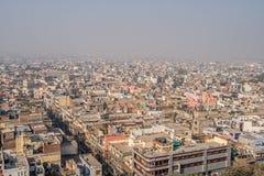 Cityscape av gamla delhi i Indien royaltyfri fotografi