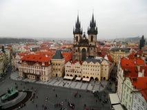 Cityscape av gamla prague, Prague, Tjeckien Fotografering för Bildbyråer