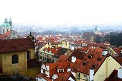 Cityscape av gammala prague Arkivbild
