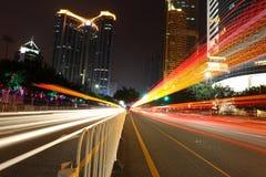 Cityscape av Guangzhou Kina Arkivfoton