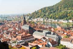 Cityscape av Heidelberg, Geramny Fotografering för Bildbyråer