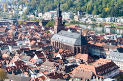 Cityscape av Heidelberg, Geramny Royaltyfria Foton