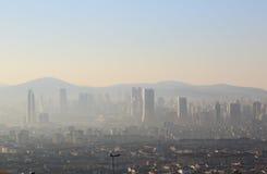 Cityscape av Istanbul Arkivbild