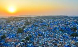 Cityscape av Jodhpur, Indien Arkivbild