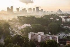 Cityscape av Johor Bahru Arkivfoto
