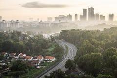 Cityscape av Johor Bahru Arkivfoton