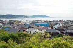 Cityscape av Kamakura, Japan Arkivbild