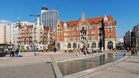 Cityscape av Katowice Royaltyfri Foto