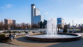 Cityscape av Katowice Arkivfoton