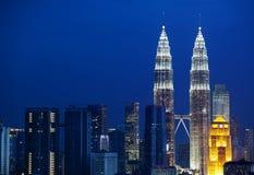 Cityscape av Kuala Lumpur, Malaysia. Arkivbilder