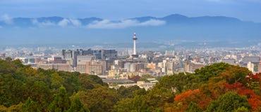 Cityscape av Kyoto, Japan Arkivbilder