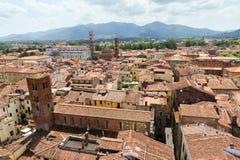 Cityscape av Lucca Arkivfoto