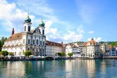 Cityscape av Lucerne Royaltyfria Foton