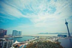 Cityscape av Macao Royaltyfri Bild