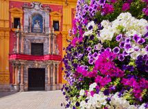 Cityscape av Malaga, Spanien Royaltyfri Fotografi