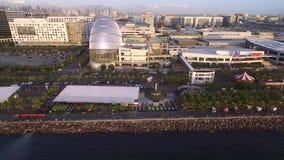 Cityscape av Manila, Filippinerna Nästan Bay City, Pasay med solnedgångljus lager videofilmer