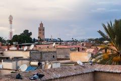 Cityscape av marrakesh Arkivfoto
