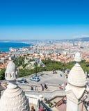 Cityscape av Marseille Arkivbild