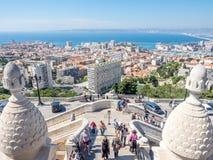 Cityscape av Marseille Arkivfoton