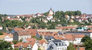Cityscape av Meissen fotografering för bildbyråer