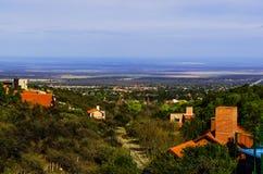 Cityscape av Merlo, San Luis Fotografering för Bildbyråer