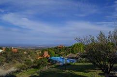 Cityscape av Merlo, San Luis Royaltyfria Bilder