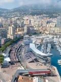Cityscape av Monaco, Monaco Royaltyfri Fotografi