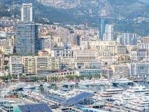 Cityscape av Monaco, Monaco Arkivbild