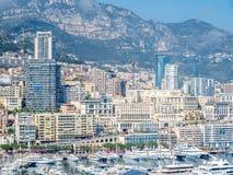 Cityscape av Monaco, Monaco Arkivfoton