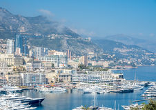 Cityscape av Monaco, Monaco Arkivbilder