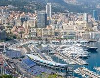 Cityscape av Monaco, Monaco Arkivfoto