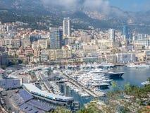 Cityscape av Monaco, Monaco Royaltyfri Foto
