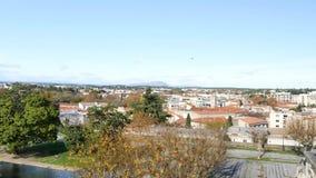 Cityscape av Montpellier, en fransk stad bredvid medelhavet arkivfilmer