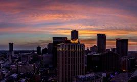 Cityscape av New Orleans LA USA Arkivbilder