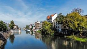 Cityscape av Opole royaltyfria foton