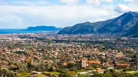 Cityscape av Palermo, i Italien Arkivbild