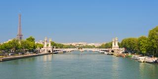 Cityscape av Paris Arkivbilder