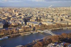 Cityscape av Paris. Royaltyfri Bild