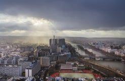 Cityscape av Paris Frankrike Royaltyfri Fotografi
