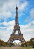 Cityscape av Paris med Eiffeltorn Arkivfoton