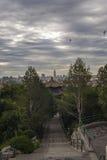 Cityscape av Peking Arkivfoto