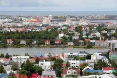 Cityscape av Reykjavik Arkivfoto