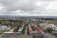 Cityscape av Reykjavik Royaltyfria Bilder